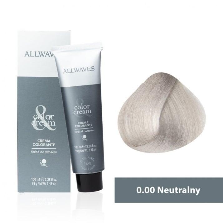 Боя за коса Allwaves Color Cream 100мл + 150мл оксидант 0/00 Неутрален