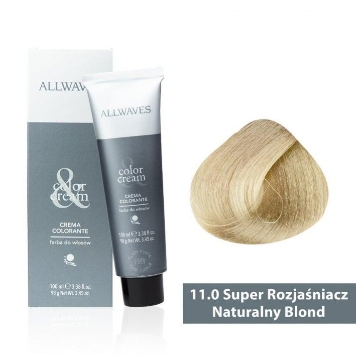 Боя за коса Allwaves Color Cream 100мл + 150мл оксидант 11/0 Ултра изсветлено естествено русо