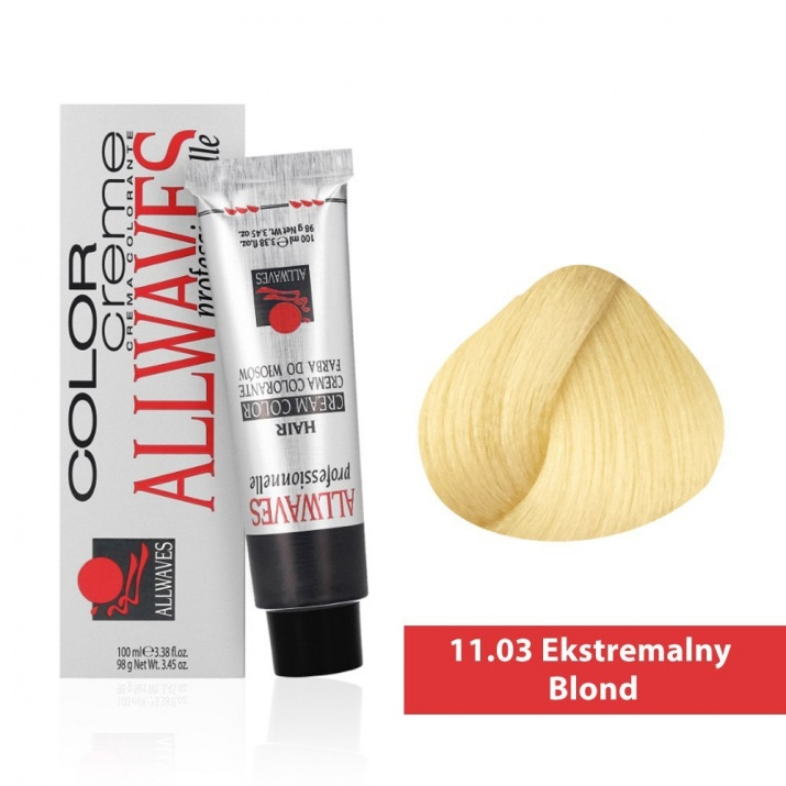 Боя за коса Allwaves Color Cream 100мл + 150мл оксидант 11/03 Екстремно русо