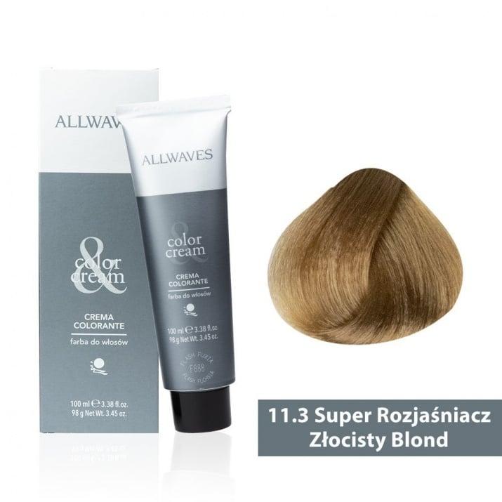 Боя за коса Allwaves Color Cream 100мл + 150мл оксидант 11/3 Ултра изсветлено златисто русо