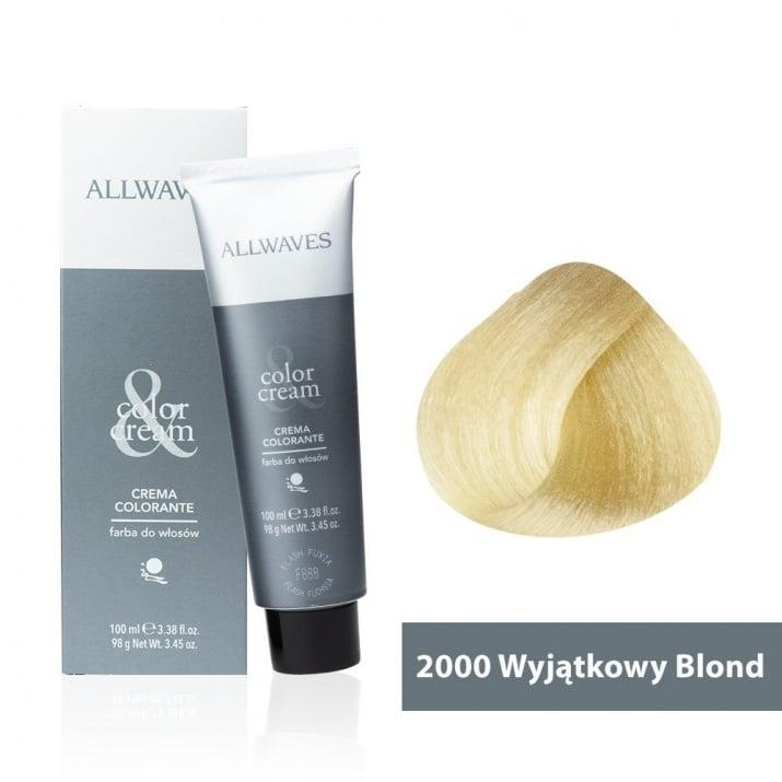 Боя за коса Allwaves Color Cream 100мл + 150мл оксидант 2000 Супер русо
