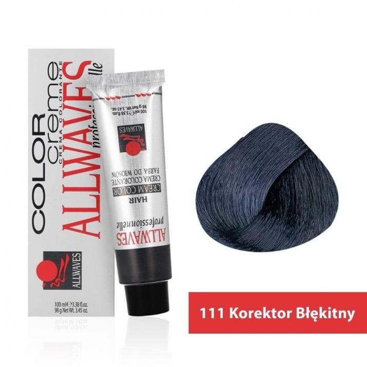 Боя за коса Allwaves Color Cream 100мл + 150мл оксидант 111 Син коректор