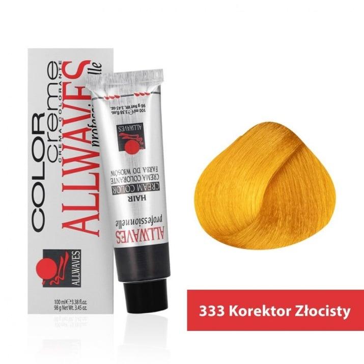 Боя за коса Allwaves Color Cream 100мл + 150мл оксидант 333 Златен коректор
