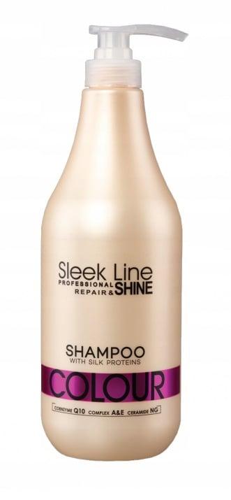 ШАМПОАН за боядисана коса с UV филтър - SLEEK LINE - 300мл./1000мл. Разфасовка: 1000
