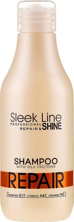 ШАМПОАН за суха, изтощена и третирана коса - SLEEK LINE - 300мл/1000мл