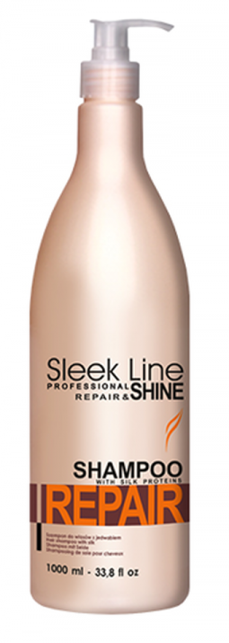 ШАМПОАН за суха, изтощена и третирана коса - SLEEK LINE - 300мл/1000мл Разфасовка: 1000