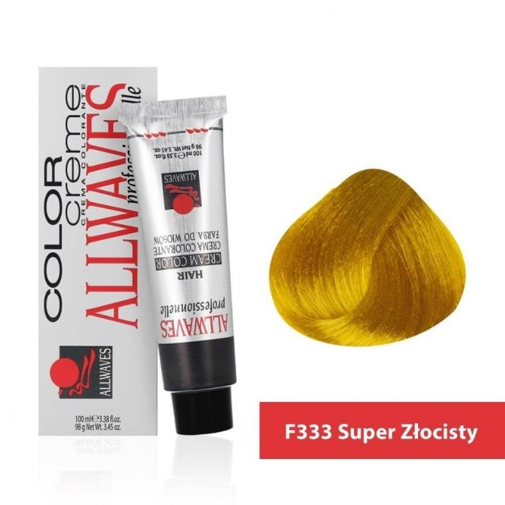 Боя за коса Allwaves Color Cream 100мл + 150мл оксидант F333 Ултра Златно