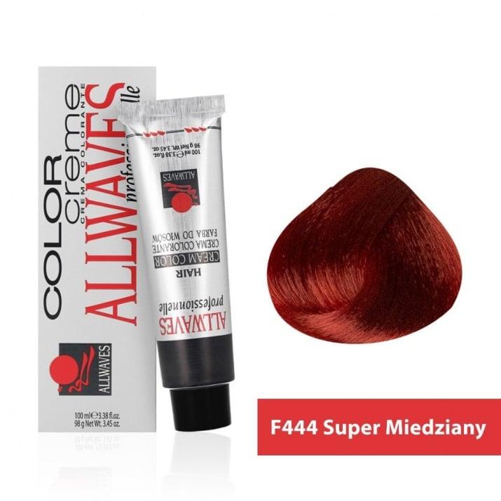 Боя за коса Allwaves Color Cream 100мл + 150мл оксидант F444 Ултра медно