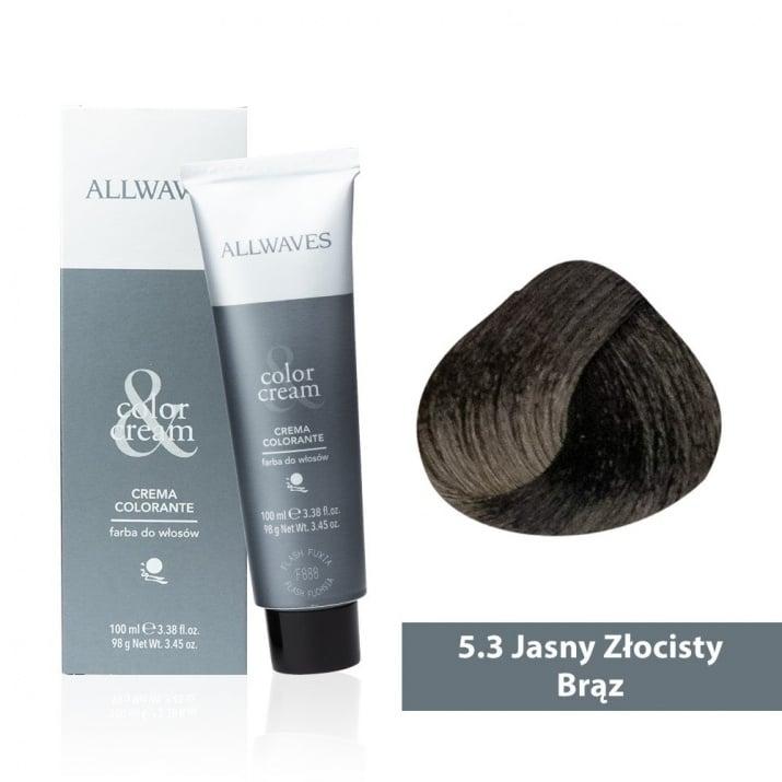 Боя за коса Allwaves Color Cream 100мл + 150мл оксидант 5/3 Светло златисто кафяво