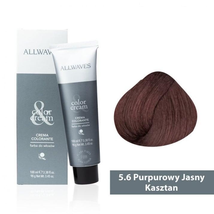 Боя за коса Allwaves Color Cream 100мл + 150мл оксидант 5/6 Виолетово светло кафяво