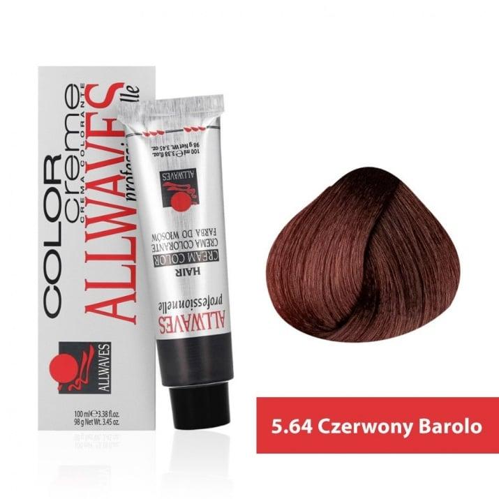 Боя за коса Allwaves Color Cream 100мл + 150мл оксидант 5/64 Червено бароло