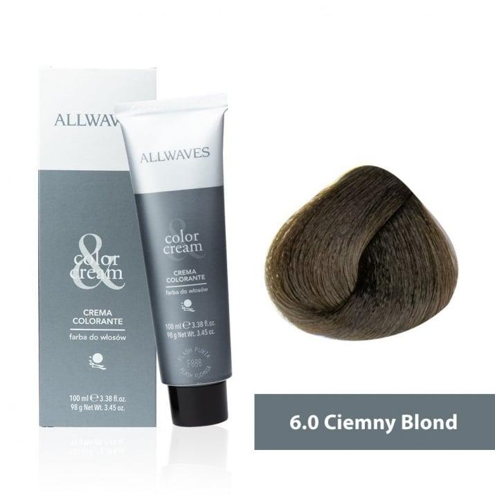 Боя за коса Allwaves Color Cream 100мл + 150мл оксидант 6/0 Тъмнорусо