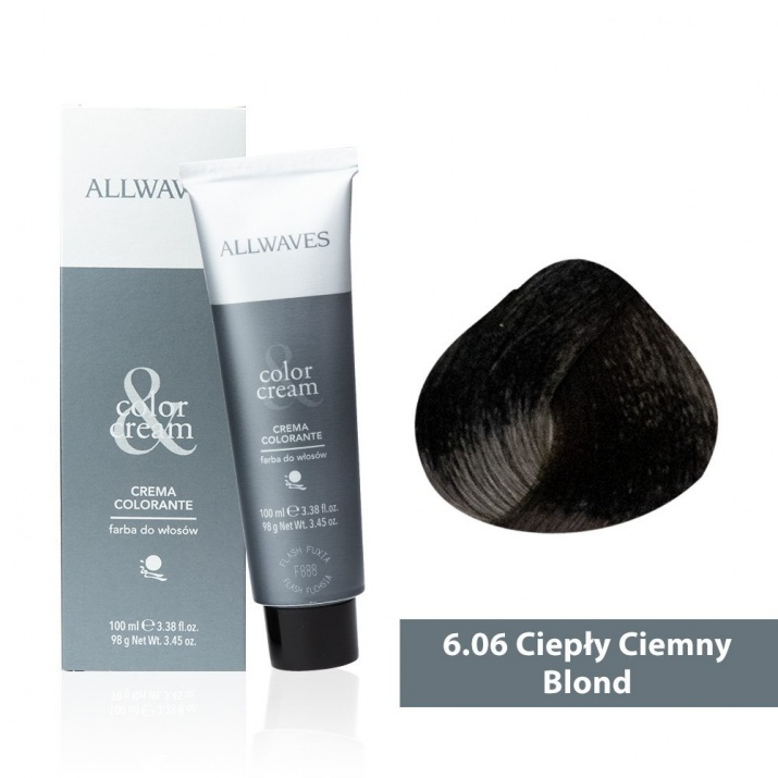 Боя за коса Allwaves Color Cream 100мл + 150мл оксидант 6/06 Топло тъмнорусо
