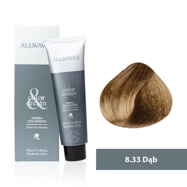 Боя за коса Allwaves Color Cream 100мл + 150мл оксидант 8/33 Дъб