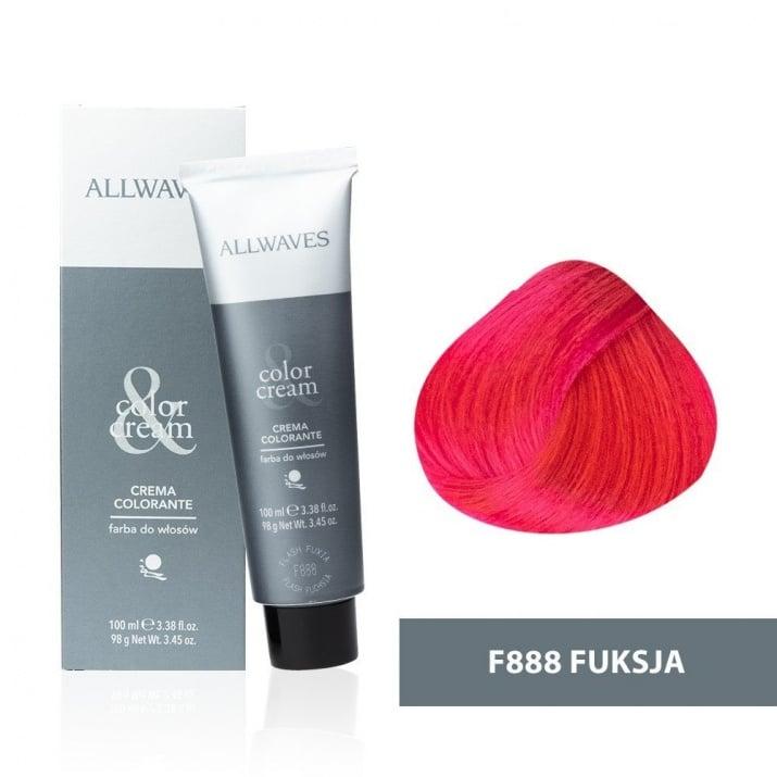 Боя за коса Allwaves Color Cream 100мл + 150мл оксидант F888 Ярка фукция