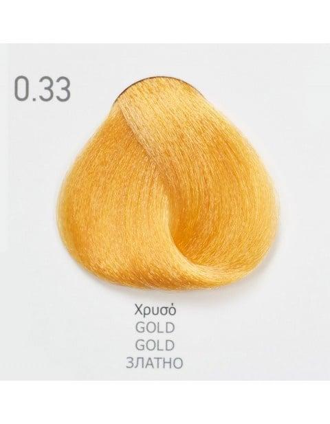 Боя за коса Fadiam 100мл. + Оксидант FADIAM: 0.33 Златно - коректор