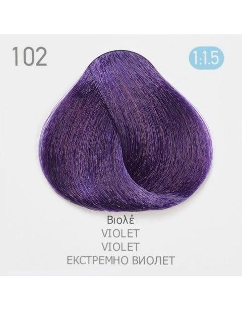 Боя за коса Fadiam 100мл. + Оксидант FADIAM: 102 Екстремно виолет - коректор