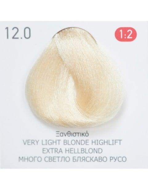 Боя за коса Fadiam 100мл. + Оксидант FADIAM: 12.0 Много светло бляскаво русо