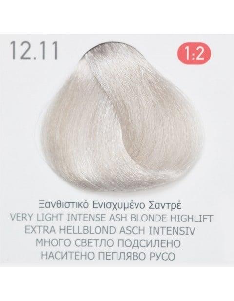 Боя за коса Fadiam 100мл. + Оксидант FADIAM: 12.11 Много светло подсилено наситено пепеляво русо
