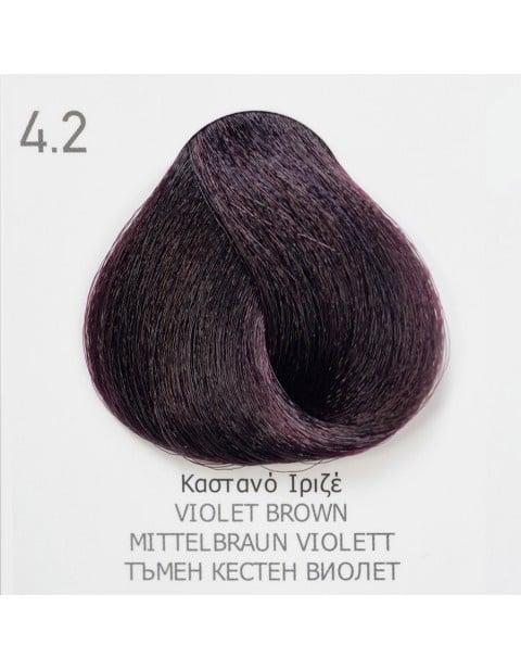 Боя за коса Fadiam 100мл. + Оксидант FADIAM: 4.2 Тъмен кестен виолет