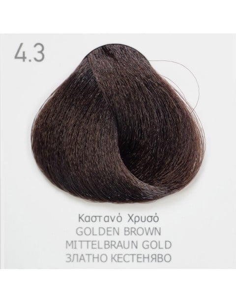 Боя за коса Fadiam 100мл. + Оксидант FADIAM: 4.3 Златно кестеняво