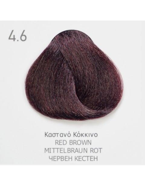 Боя за коса Fadiam 100мл. + Оксидант FADIAM: 4.6 Червен кестен