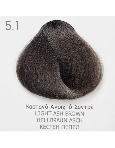 Боя за коса Fadiam 100мл. + Оксидант FADIAM: 5.1 Кестен пепел