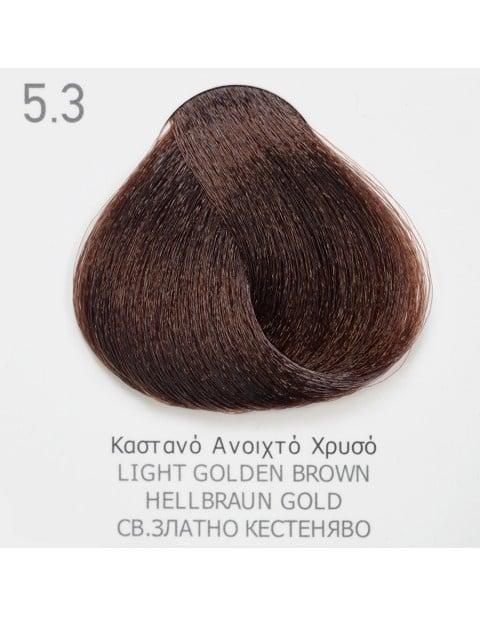 Боя за коса Fadiam 100мл. + Оксидант FADIAM: 5.3 Светло златно кестеняво