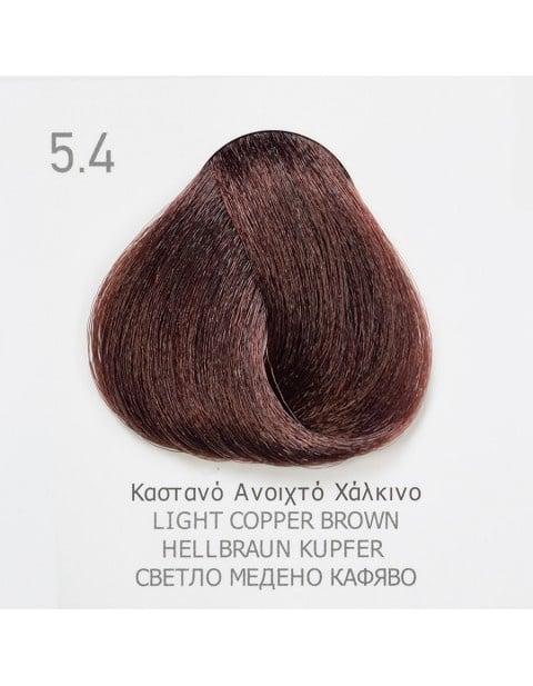 Боя за коса Fadiam 100мл. + Оксидант FADIAM: 5.4 Светло медено кафяво