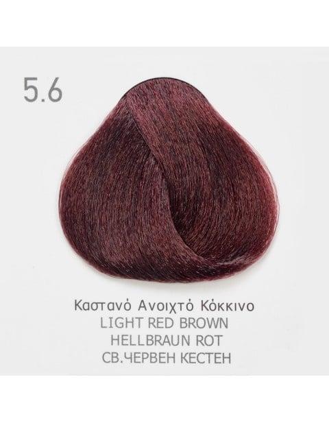 Боя за коса Fadiam 100мл. + Оксидант FADIAM: 5.6 Светло червен кестен