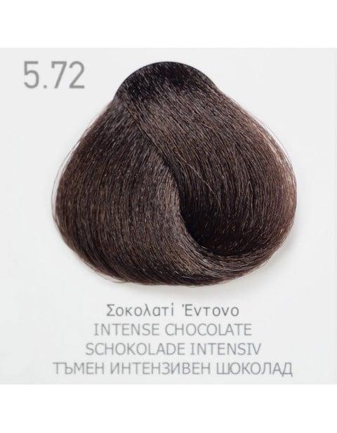 Боя за коса Fadiam 100мл. + Оксидант FADIAM: 5.72 Тъмен интензивен шоколад