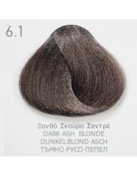 Боя за коса Fadiam 100мл. + Оксидант FADIAM: 6.1 Тъмнорусо пепел
