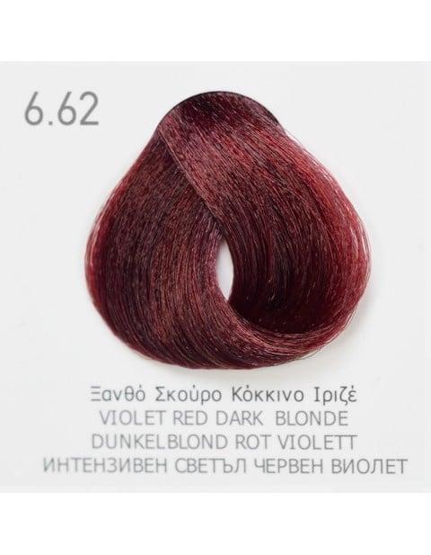 Боя за коса Fadiam 100мл. + Оксидант FADIAM: 6.62 Интензивен светъл червен виолет