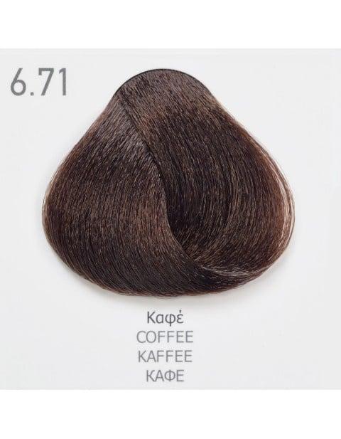 Боя за коса Fadiam 100мл. + Оксидант FADIAM: 6.71 Кафе