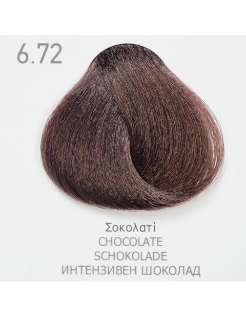 Боя за коса Fadiam 100мл. + Оксидант FADIAM: 6.72 Интензивен шоколад