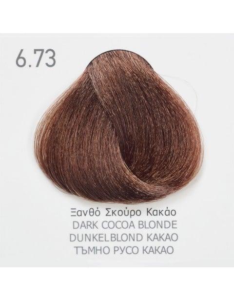 Боя за коса Fadiam 100мл. + Оксидант FADIAM: 6.73 Тъмнорусо какао