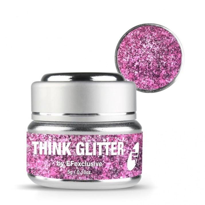 EF Think Glitter Gel - Брокатен гел UV/LED 5гр. Цвят: Cinderella Wedding