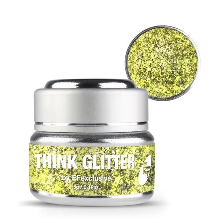 EF Think Glitter Gel - Брокатен гел UV/LED 5гр. Цвят: Dramatic