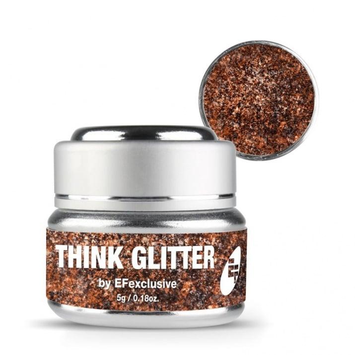 EF Think Glitter Gel - Брокатен гел UV/LED 5гр. Цвят: Gold Sequins