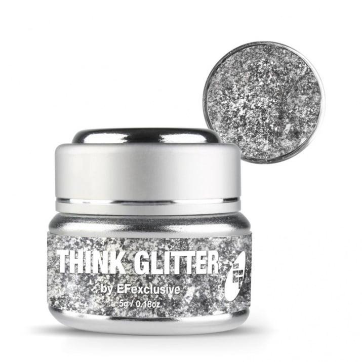 EF Think Glitter Gel - Брокатен гел UV/LED 5гр. Цвят: Twinkle, Twinkle