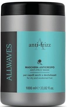 Професионална маска за къдрава и гъста коса, Allwaves Anti-Frizz 1000 мл.