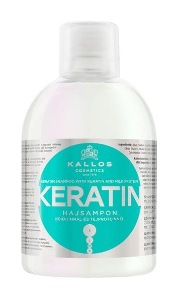 KALLOS SHAMPOO Keratin and Milk Protein - шампоан с кератин и млечен протеин 1000 мл.