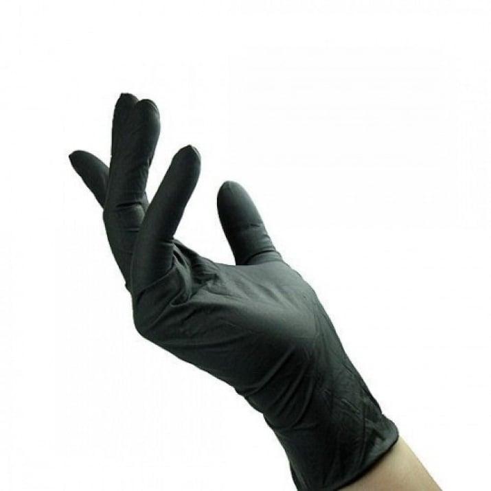 Нитрилни черни ръкавици 100бр пакет