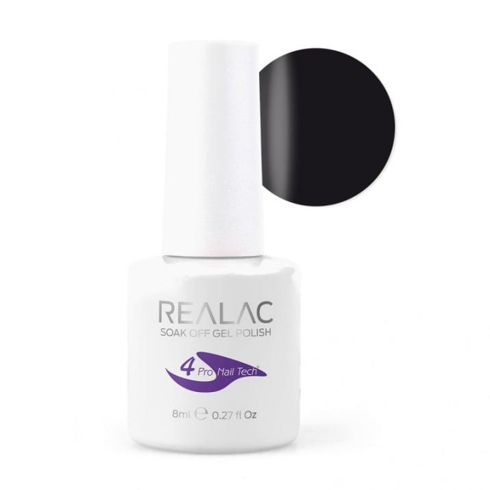 REALAC  ГЕЛ ЛАК - 8мл. Realac: 02 - Black