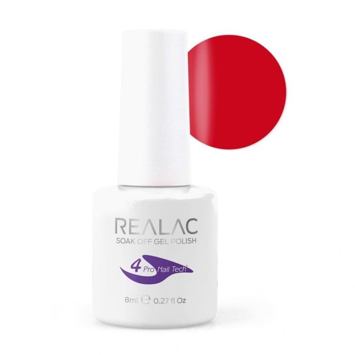 REALAC  ГЕЛ ЛАК - 8мл. Realac: 09 - Hot Red