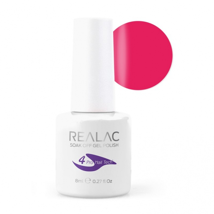 REALAC  ГЕЛ ЛАК - 8мл. Realac: 11 - Neon Pink