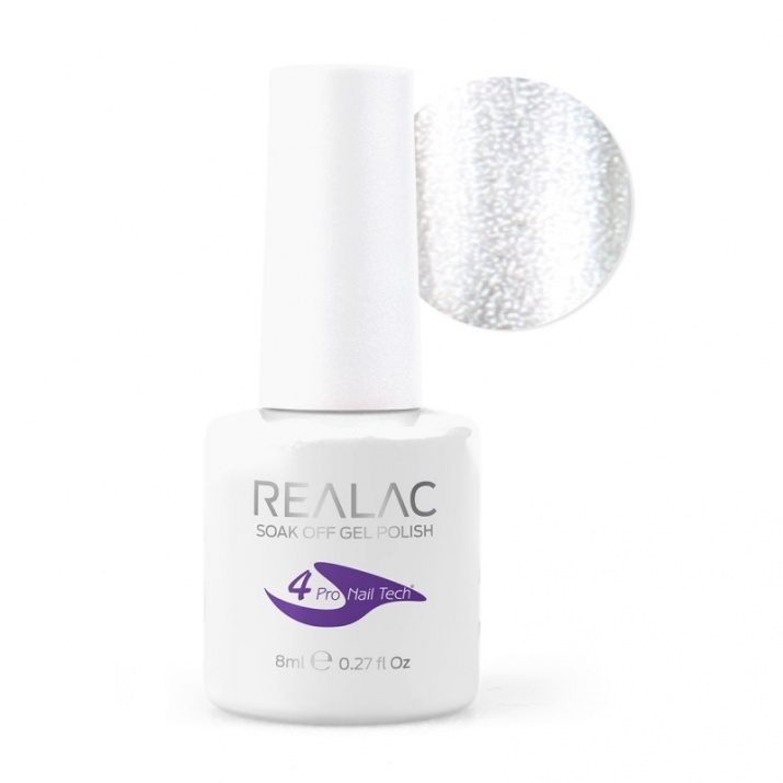 REALAC  ГЕЛ ЛАК - 8мл. Realac: 34 - Silver Star