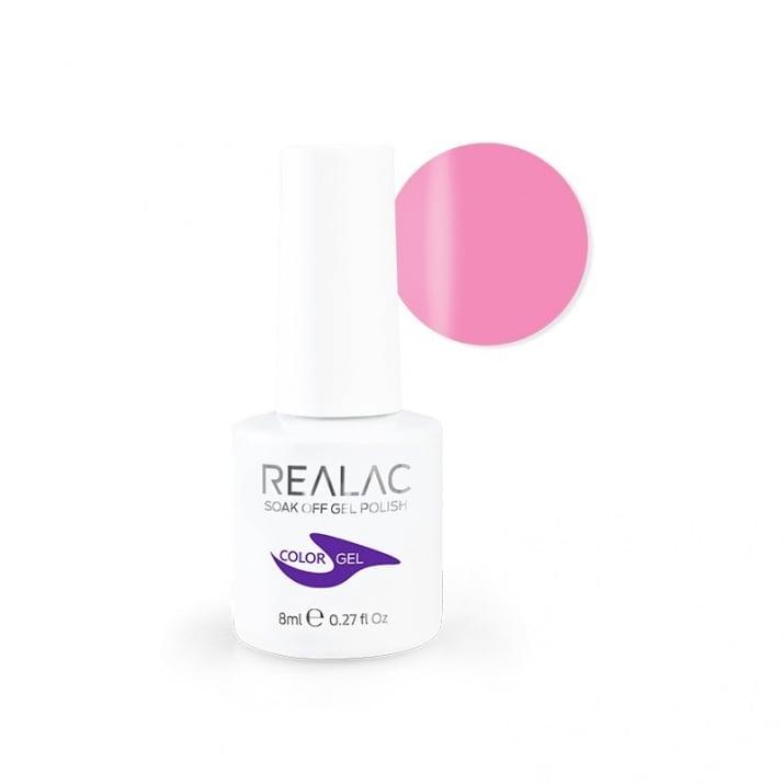 REALAC  ГЕЛ ЛАК - 8мл. Realac: 62 - Inviting Pink