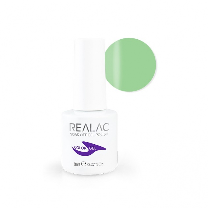 REALAC  ГЕЛ ЛАК - 8мл. Realac: 69 - Green Me