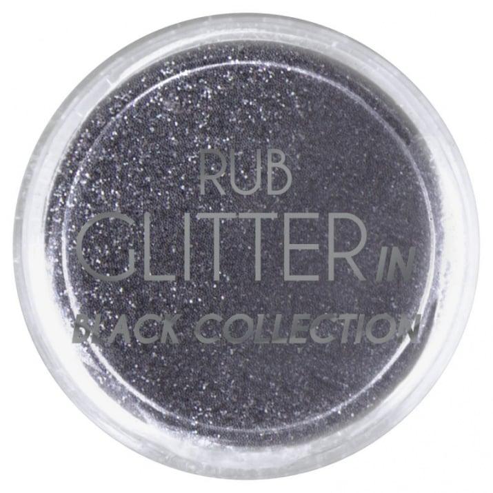 RUB GLITTER -  6 + 1 ПОДАРЪК Брокатна пудра 50 цвята RUB GLITTER: Rub Glitter in Black Collection -3